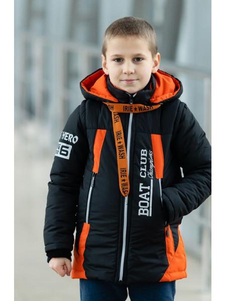 Куртка БОНО демисезонная д/мал (графит/оранжевый)
