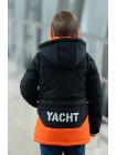 Куртка 7924-1 БОНО демисезонная д/мал (графит/оранжевый)