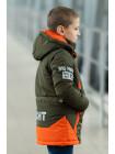 Куртка 7924-2 БОНО демисезонная д/мал (графит/оранжевый)