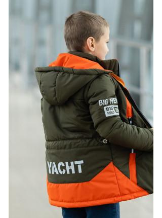 Куртка БОНО демисезонная д/мал (хаки+оранжевый)