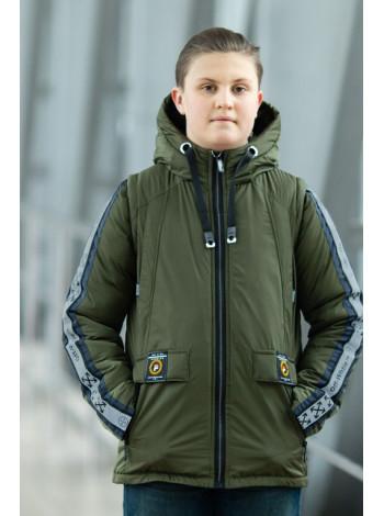 Куртка 7926-2 ОЛИВЕР демисезонная д/мал (хаки)