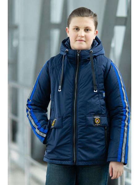 Куртка ОЛИВЕР демисезонная д/мал (синий)