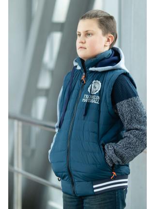 Куртка-жилет  2 в 1 РЭДКЛИФФ демисезонная д/мал (джинс)