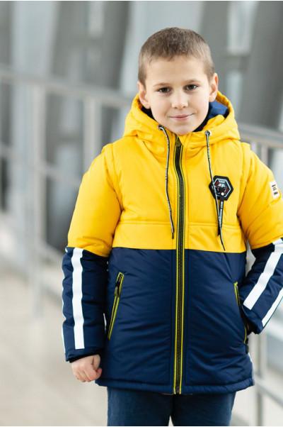 Куртка ФРЕД демисезонная д/мал (желтый/синий)