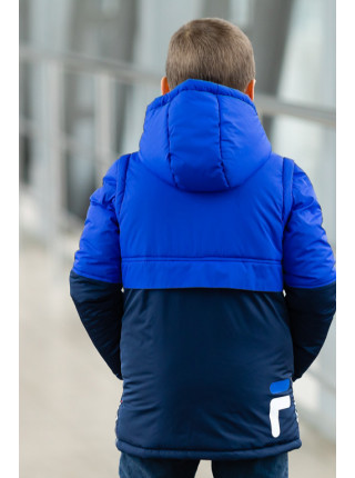 Куртка ФРЕД демисезонная д/мал (электрик/синий)