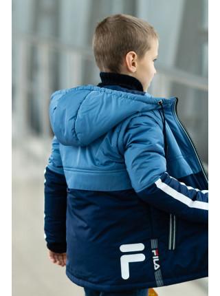 Куртка ФРЕД демисезонная д/мал (джинс/синий)