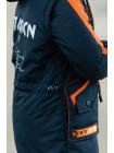 Куртка 7929-1 СМАРТ демисезонная д/мал (графит/оранж)
