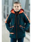 Куртка 7929-3 СМАРТ демисезонная д/мал (бутылочный/оранж)