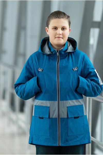 Куртка СТИВЕН демисезонная д/мал (голубой)