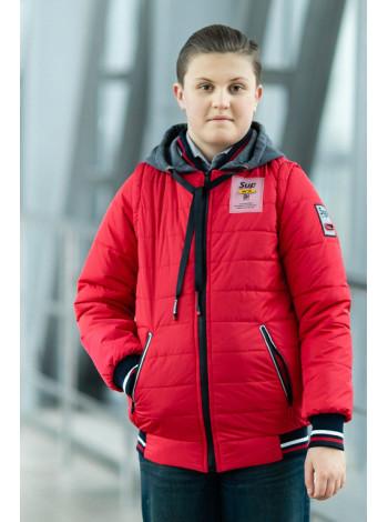 Куртка 7931-2 СПИН демисезонная д/мал (красный)