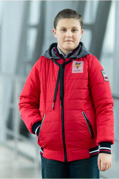 Куртка СПИН демисезонная д/мал (красный)