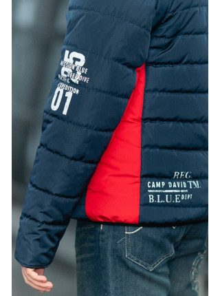Куртка ФРЭНСИС демисезонная д/мал (синий/красный)