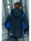 Куртка 7932-3 ФРЭНСИС демисезонная д/мал (синий/электрик)