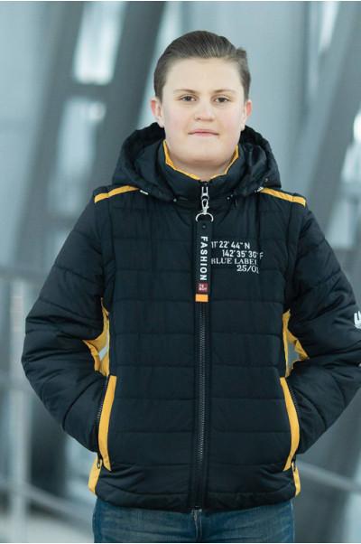 Куртка ФРЭНСИС демисезонная д/мал (черный/оранжевый)