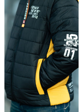 Куртка-жилет ФРЭНСИС демисезонная д/мал (черный+оранжевый)