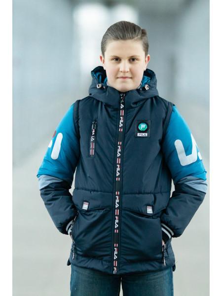 Куртка ФЛИП демисезонная д/мал (синий/голубой)