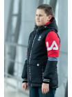 Куртка 7933-3 ФЛИП демисезонная д/мал (черный/красный)