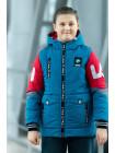 Куртка 7933-4 ФЛИП демисезонная д/мал (голубой/красный)