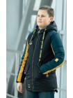 Куртка 7934-3 СЭМЮЭЛ демисезонная д/мал (черный/желтый/бутылочный)