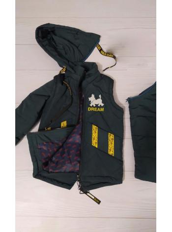 Куртка 7937-2 ДАНИС демисезонная д/мал (бутылочный)