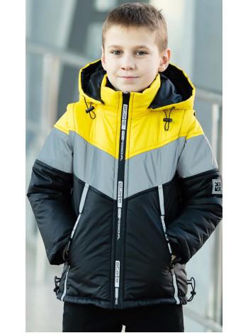 Куртка 7938-1 СВЕН демисезонная д/мал (черный/желтый)