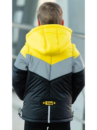 Куртка СВЕН демисезонная д/мал (черный/желтый)