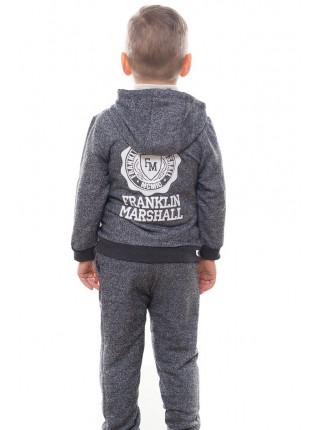 Детский спортивный костюм УСТИН д/мальч. (серый+электрик)