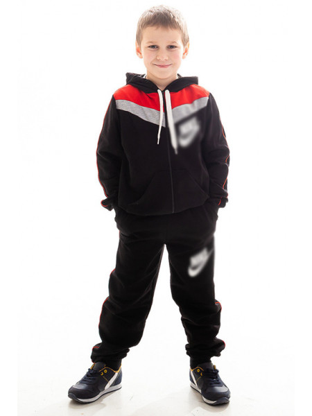 Детский спорт.костюм АВЕНИР д/мальч. (черный+красный)