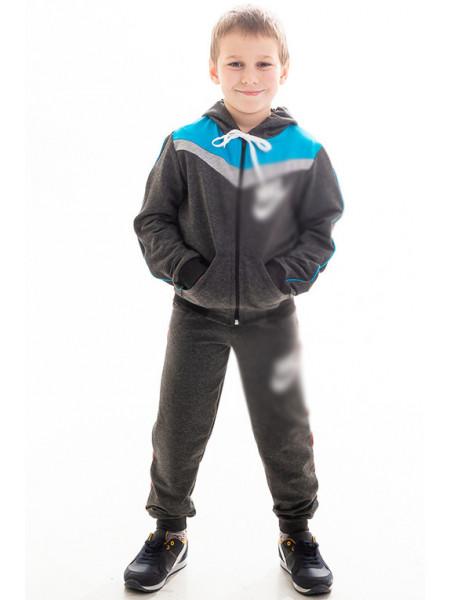 Детский спортивный костюм АВЕНИР д/мальч. (серый+голубой)