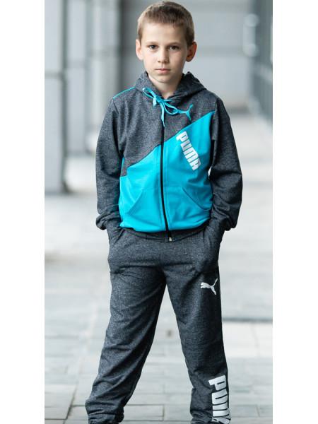 Подростковый спортивный костюм МОНК д/мальч. (т.серый)