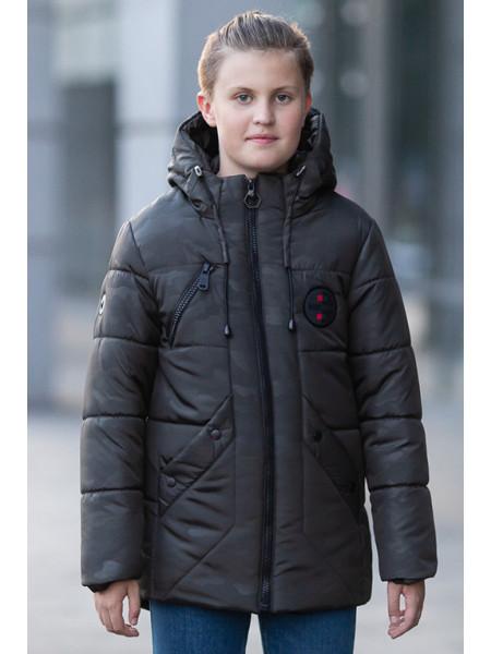 Зимняя куртка РОЛАН д/мал (т.серый)