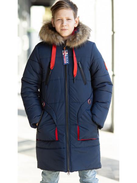 Зимняя куртка ВИТЯЗЬ д/мальч. (синий/красный)