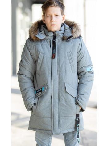 Зимняя куртка СКОР д/мальч. (серый)