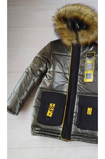 Зимняя куртка ДАМАН д/мальч. (металлик)