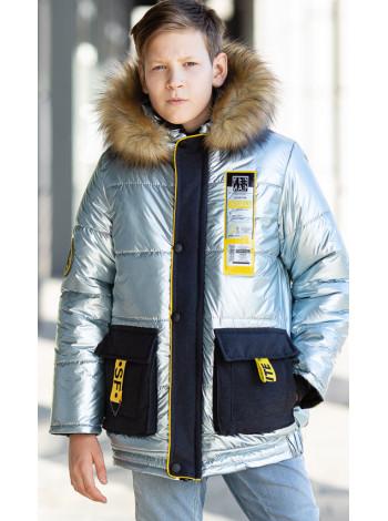 Зимняя куртка ДАМАН д/мальч. (голубой металлик)