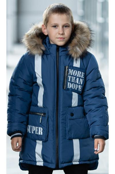 Зимняя куртка МАКЕЙ д/мальч. (джинс)
