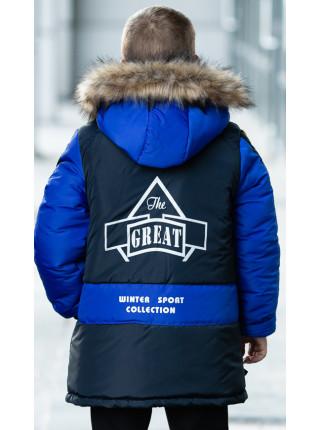Зимняя куртка ПРЕСТОН д/мальч. (синий/электрик)