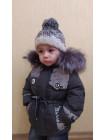 Зимняя куртка ФУНТИК д/мальч. (т.серый/светоотр.вставки)