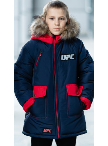 Зимняя куртка ФОСС д/мальч. (синий/красный)