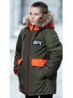Зимняя куртка ФОСС д/мальч. (хаки/оранжевый)
