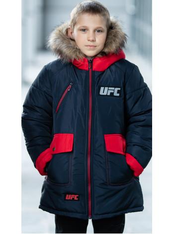 Зимняя куртка ФОСС д/мальч. (графит/красный)