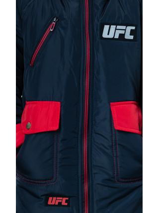 Зимняя куртка ФОСС д/мальч. (графит+красный)