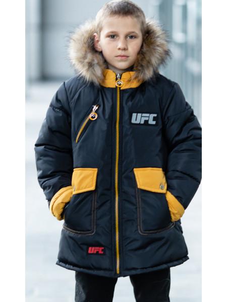 Зимняя куртка ФОСС д/мальч. (черный/желтый)