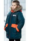 Зимняя куртка ФОСС д/мальч. (бутылочный/оранжевый)