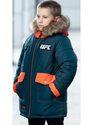 Зимняя куртка ФОСС д/мальч. (бутылочный+оранжевый)