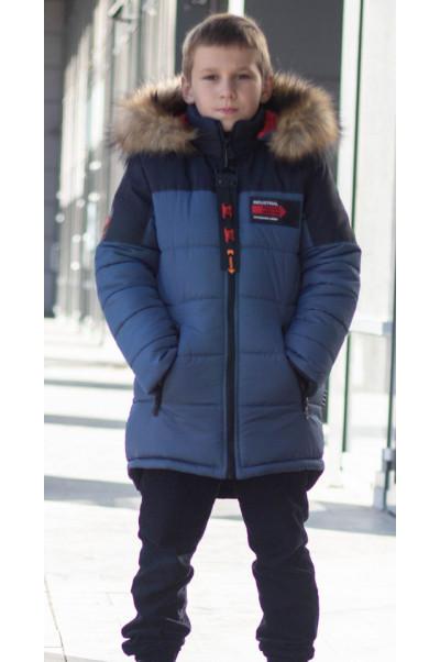 Зимняя куртка РОК д/мальч. (джинс)