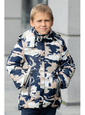Куртка МАРЕК зимняя д/мал (синий)