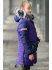 Зимняя куртка для для  девочки Делия (фиолетовый+синий)