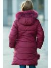 Зимнее пальто ДАЯНА д/дев (бордовый)