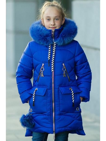 Зимнее пальто ДАЯНА д/дев (электрик)